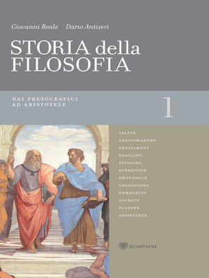 cover image of Storia della filosofia--Volume 1