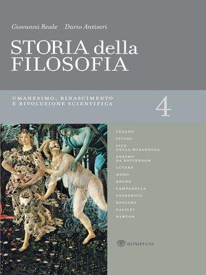 cover image of Storia della filosofia--Volume 4