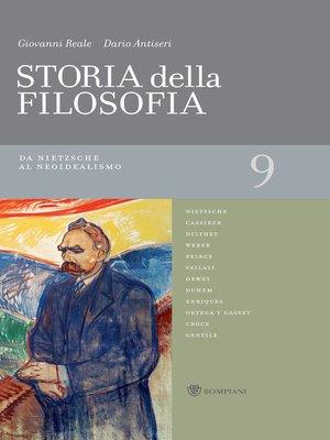 cover image of Storia della filosofia--Volume 9
