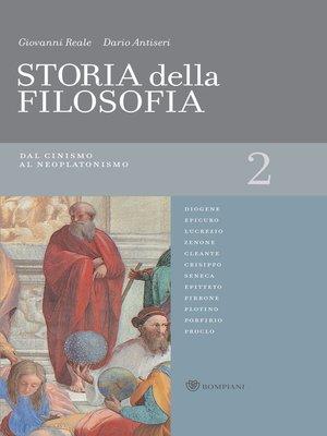 cover image of Storia della filosofia--Volume 2