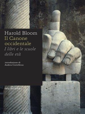 cover image of Il canone occidentale