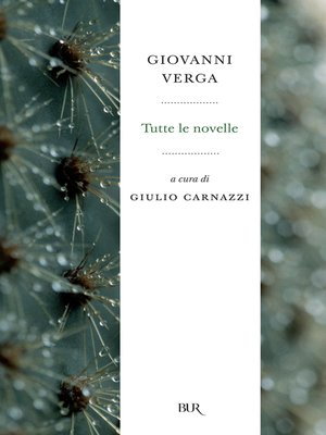 cover image of Tutte le novelle