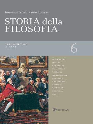 cover image of Storia della filosofia--Volume 6