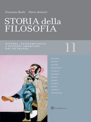 cover image of Storia della filosofia--Volume 11