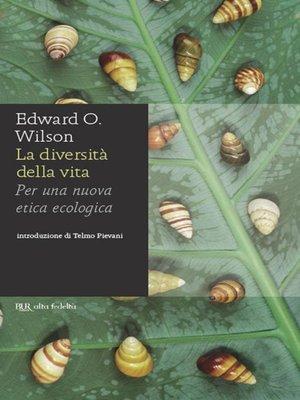 cover image of La diversità della vita