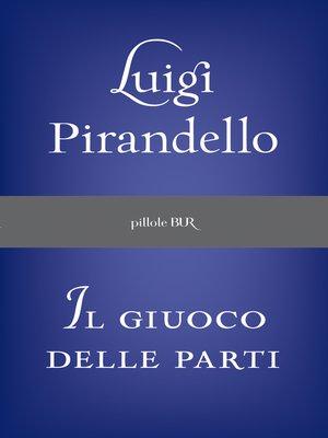 cover image of Il giuoco delle parti