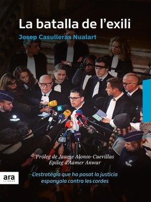 cover image of La batalla de l'exili