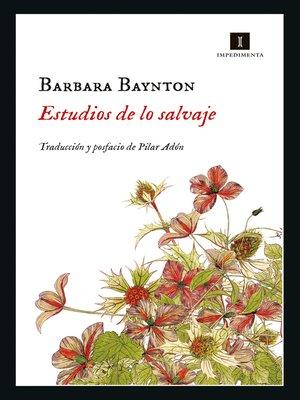 cover image of Estudio de lo salvaje