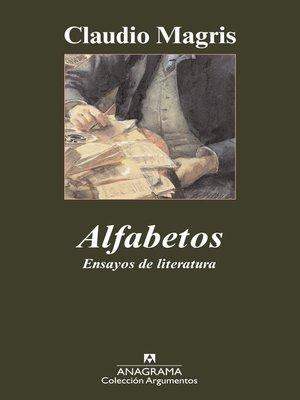 cover image of Alfabetos