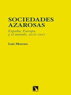 cover image of Sociedades azarosas