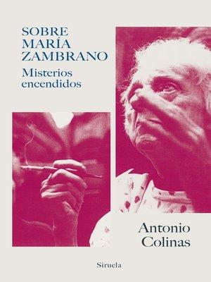 cover image of Sobre María Zambrano