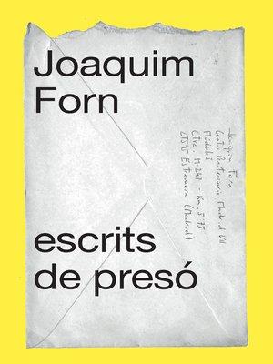 cover image of Escrits de presó