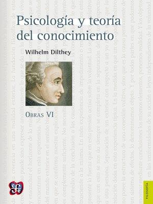 cover image of Psicología y teoría del conocimiento