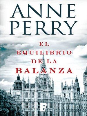 cover image of El equilibrio de la balanza (Detective William Monk 7)