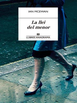cover image of La llei del menor