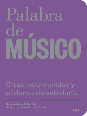 cover image of Palabra de músico