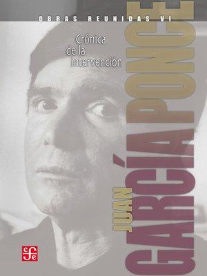 cover image of Obras reunidas, 6. Crónica de la intervención