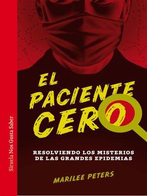 cover image of El paciente cero