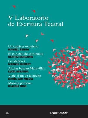 cover image of V Laboratorio de Escritura Teatral (LET)
