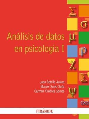 cover image of Análisis de datos en psicología I