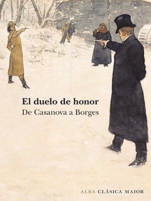 cover image of El duelo de honor