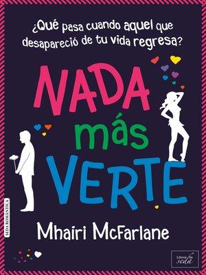 cover image of Nada más verte