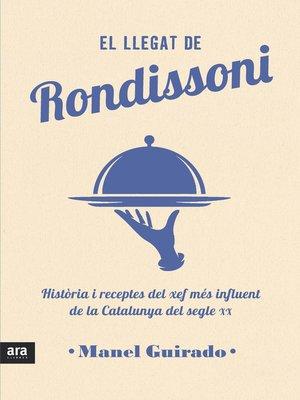 cover image of El llegat de Rondissoni