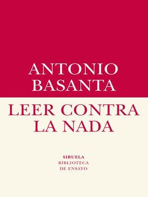 cover image of Leer contra la nada