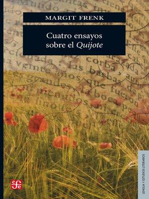 cover image of Cuatro ensayos sobre el Quijote