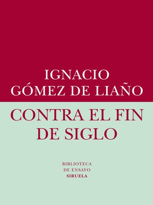 cover image of Contra el fin de siglo