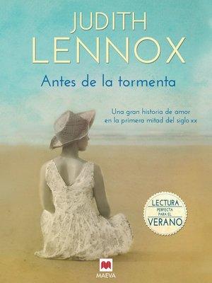 cover image of Antes de la tormenta
