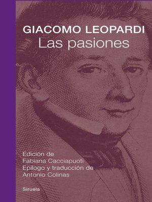 cover image of Las pasiones