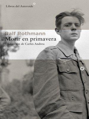 cover image of Morir en primavera