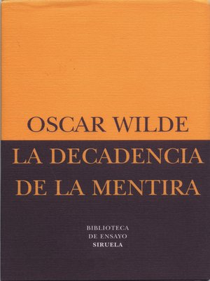 cover image of La decadencia de la mentira