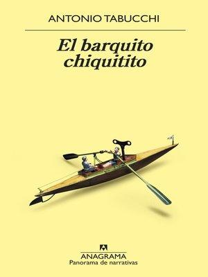 cover image of El barquito chiquitito