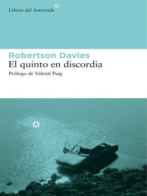 cover image of El quinto en discordia