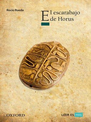 cover image of El escarabajo de Horus