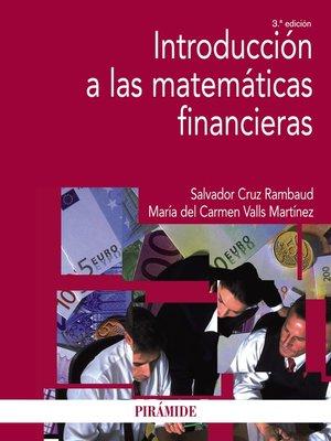 cover image of Introducción a las matemáticas financieras