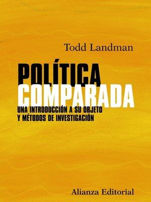 cover image of Política comparada