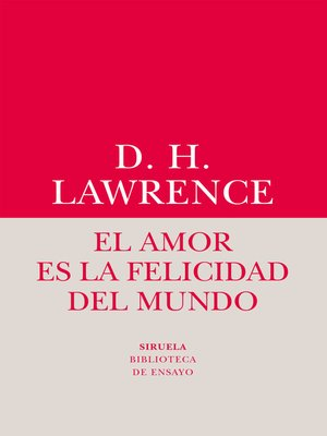 cover image of El amor es la felicidad del mundo