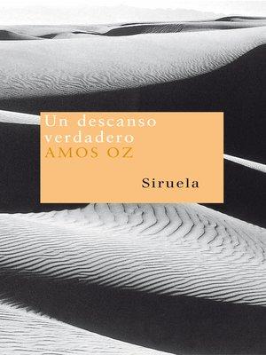 cover image of Un descanso verdadero