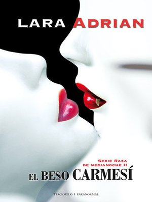 cover image of El beso carmesí