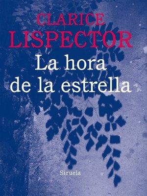 cover image of La hora de la estrella