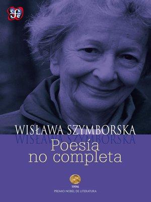 cover image of Poesía no completa