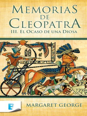 cover image of El ocaso de una diosa (Memorias de Cleopatra 3)