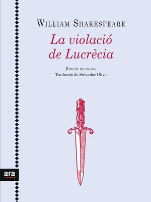 cover image of La violació de Lucrècia