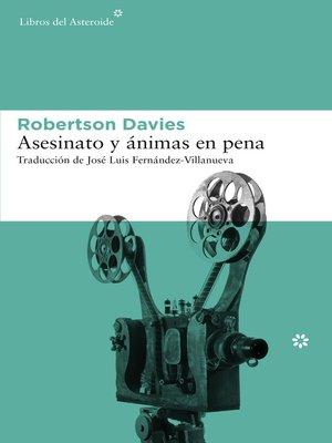 cover image of Asesinato y ánimas en pena
