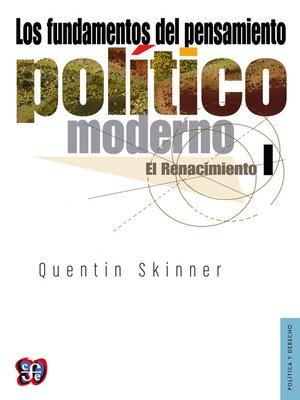 cover image of Los fundamentos del pensamiento político moderno, 1