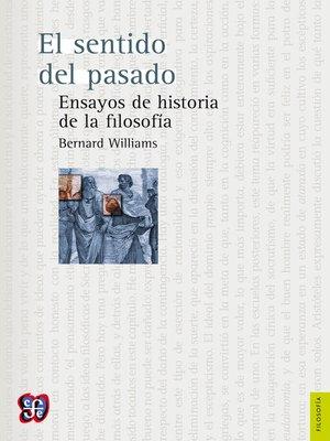 cover image of El sentido del pasado