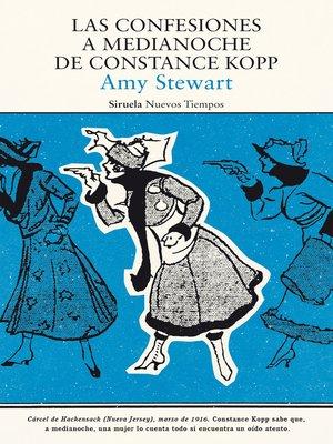 cover image of Las confesiones a medianoche de Constance Kopp